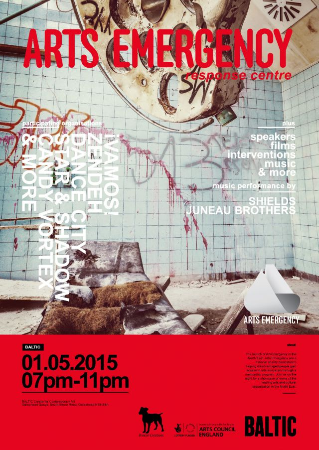 The Arts Emergency Response Centre | BALTIC | 1st May 2015