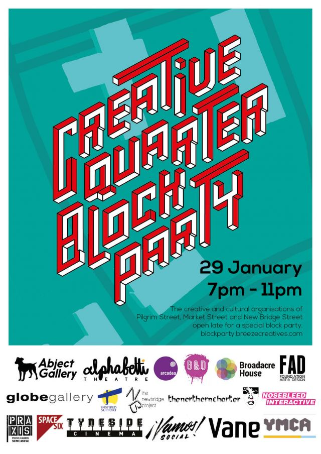 Newcastle Creative Quarter Block Party | 29th January 2016